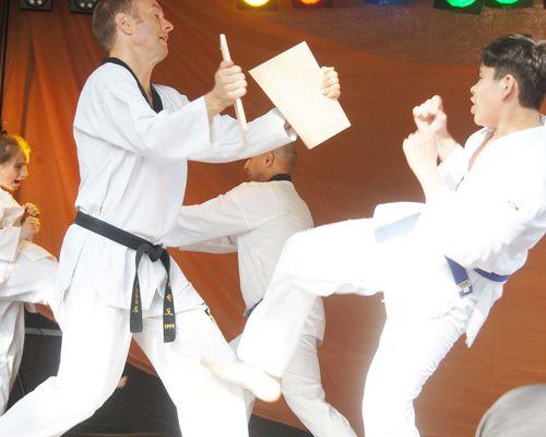 Taekwondo-Training für Kinder und Erwachsene